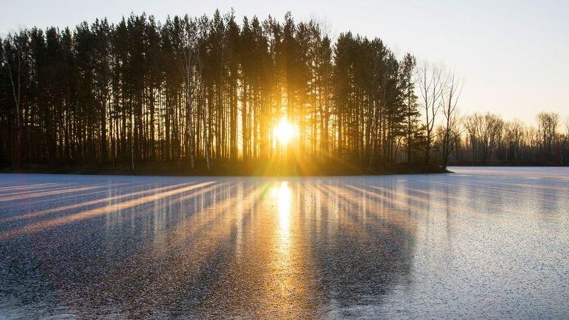 Первый лёд в суровой Сибири.photo preview