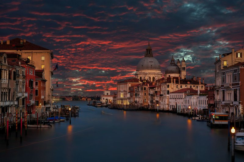 cityscape sunset clouds venice Fire in the skyphoto preview