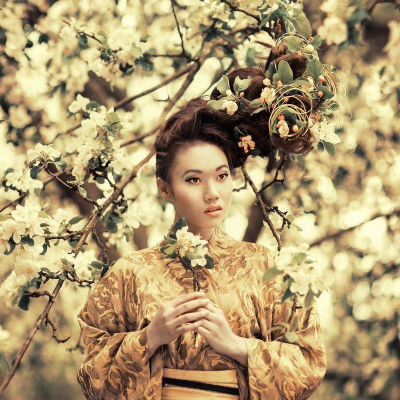 portrait, exterior, asian, beauty, spring ...photo preview