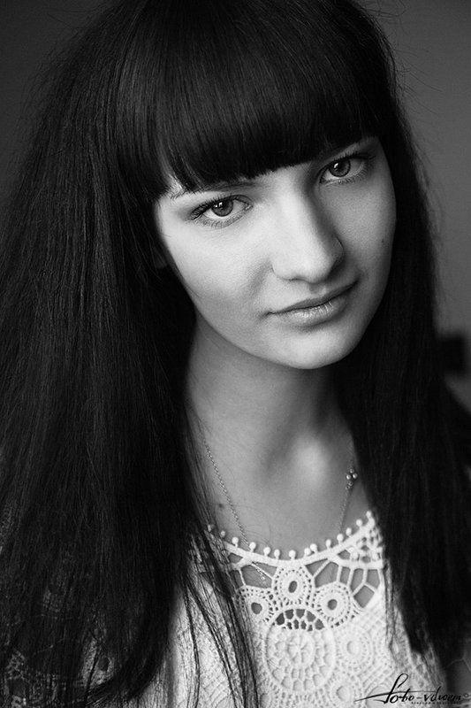 портрет, портрет девушки, черно-белое фото, черно-белая фотография, foto-vdvoem, фото вдвоем Ксенияphoto preview