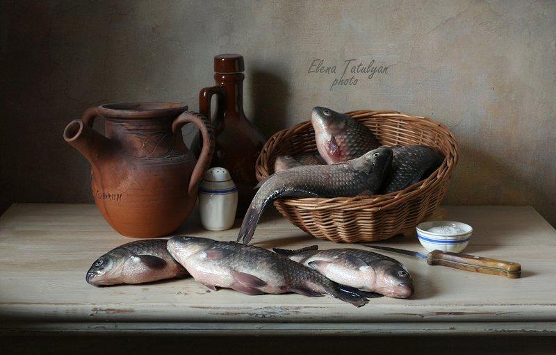 натюрморт с рыбой Караси фото превью