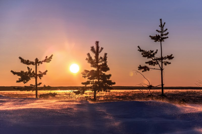 печора,водохранилище,мороз,утро, Ветреный восходphoto preview