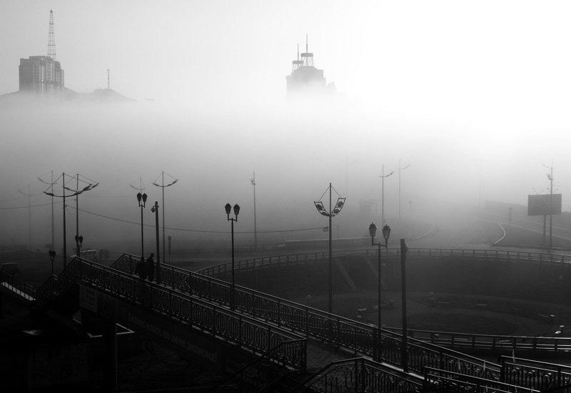 Владивосток, фонари, туман, утро, Владивосток, Родина Фонариphoto preview