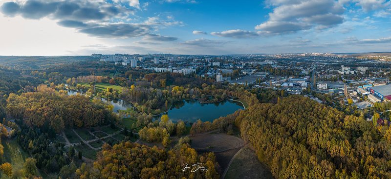 Autumn sunset in Kishinev cityphoto preview