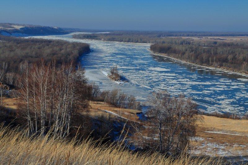 река, обь, , мороз, ледоход, берег Осенний ледоходphoto preview