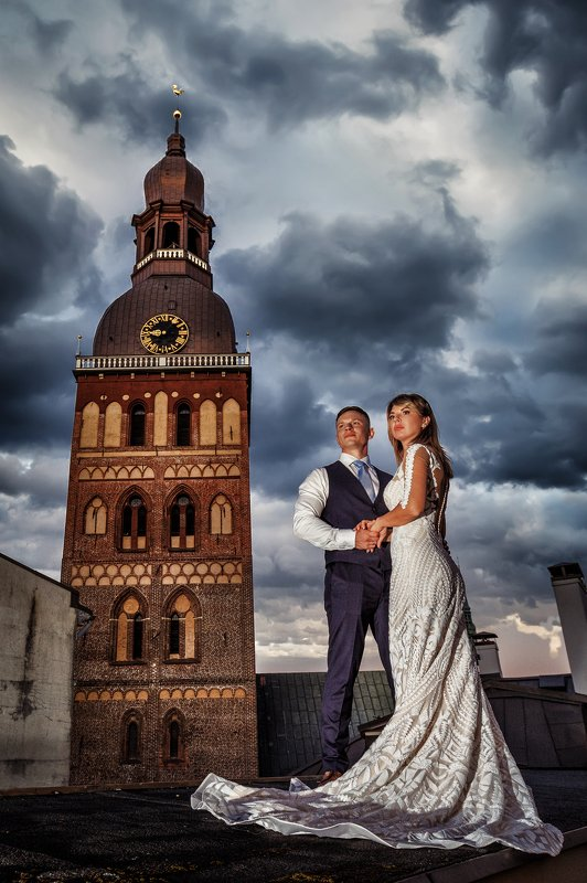 Wedding day in Riga.photo preview