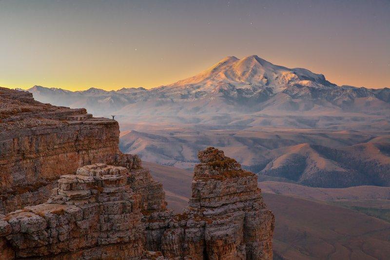 утро горы Человек и горыphoto preview