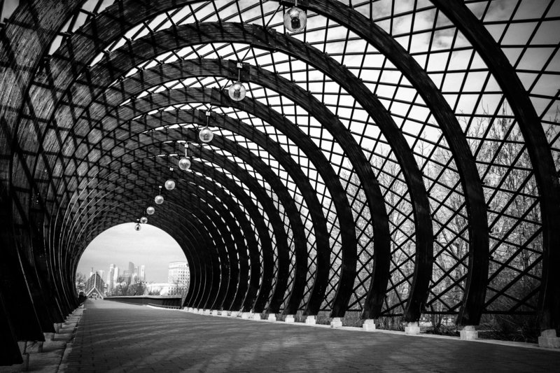 tunnel, architecture, black, white, way, city, Moscow, Russia Тёмный калейдоскопphoto preview