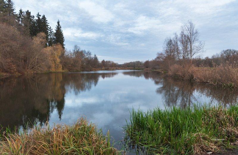Утро ноября на старой реке...photo preview