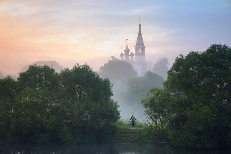 Валищево, Подмосковье, утро, лето, храм Летнее утро в с. Валищевоphoto preview