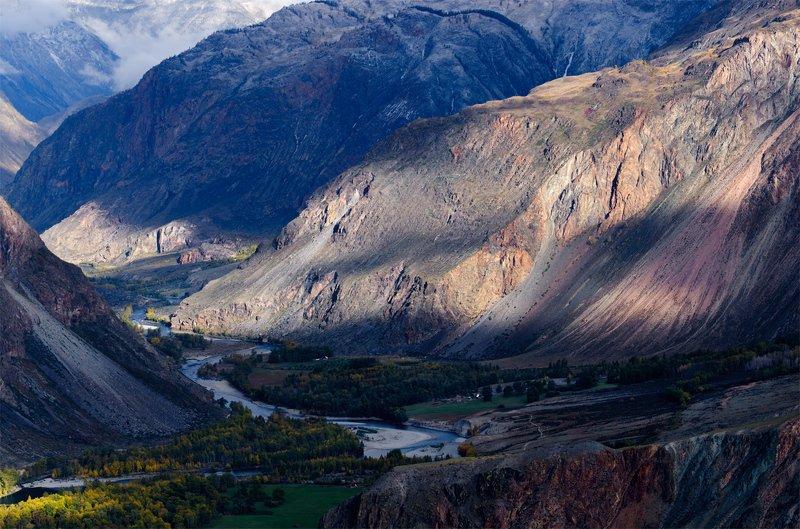 природа, пейзаж, алтай, горный алтай, осень, горы, чулышман, река, коньон Долина Чулышманphoto preview