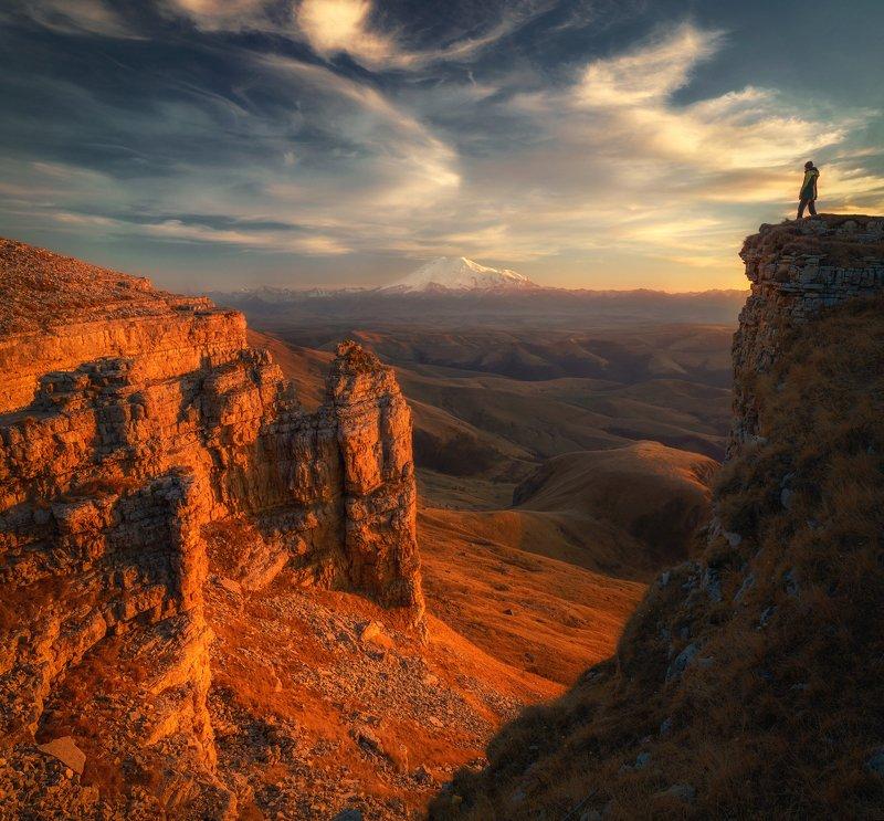 бермамыт, эльбрус, горы, закат, mountain, russia Bermamytphoto preview
