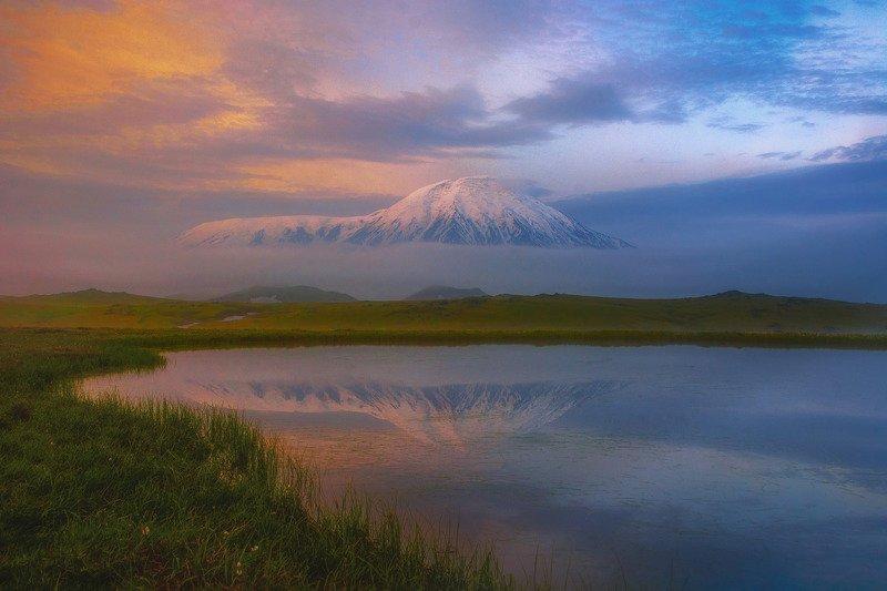 камчатка,толбачик,рассвет,вулкан,kamchatka,vulkan утро Толбачикаphoto preview