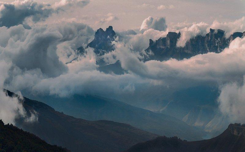 горы, перевал, актопрак, кбр, природа, осень, кавказ, наушидзе ***photo preview