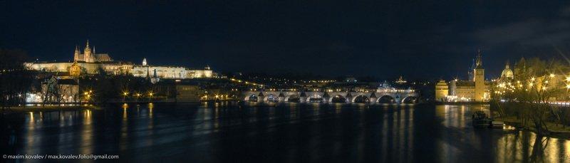 czechia, europe, prague, praha, architecture, bridge, nature, night, panorama, river, water, европа, прага, чехия, архитектура, вода, мост, ночь, панорама, природа, река Прага широким взглядом / A wide view of Praguephoto preview