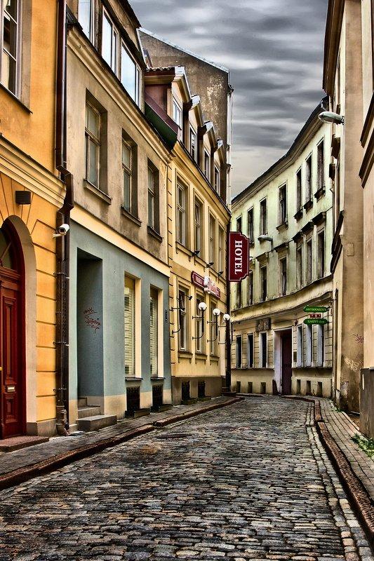 Тихие рижские улочки.photo preview