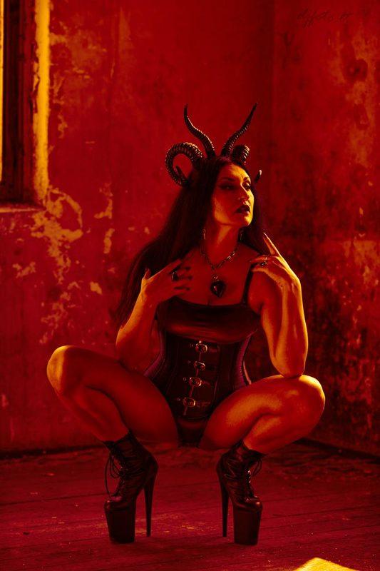 djfoto, hell, underground, gothic, devit, high heels What a Hell?photo preview