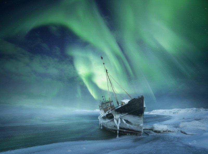 aurora borealis, северное  сияние, полярное сияние, кольский  полуостров, териберка, teriberka For the Northern Lightsphoto preview