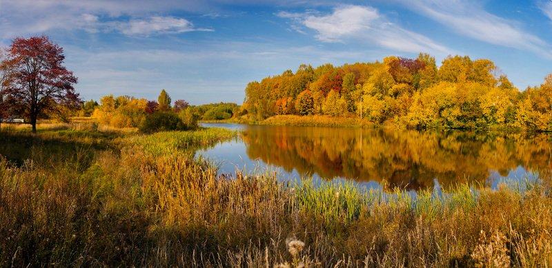 осень сентябрь вода отражение лукново Осенние радостиphoto preview