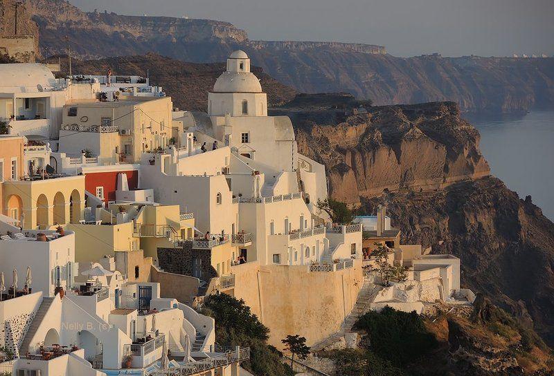 Вулкан, Греция, Кальдера, Санторини, Тира, Фира Фира вечерняяphoto preview