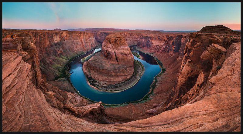 сша, аризона, подкова, река колорадо Омега реки Колорадоphoto preview