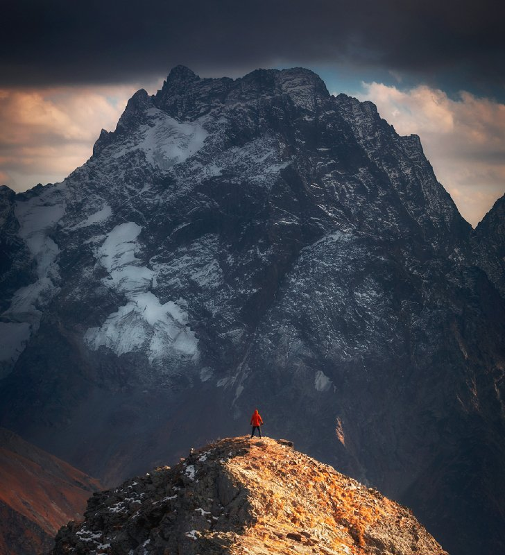 домбай, горы, кавказ, закат, mountain, caucasus, dombay One on onephoto preview