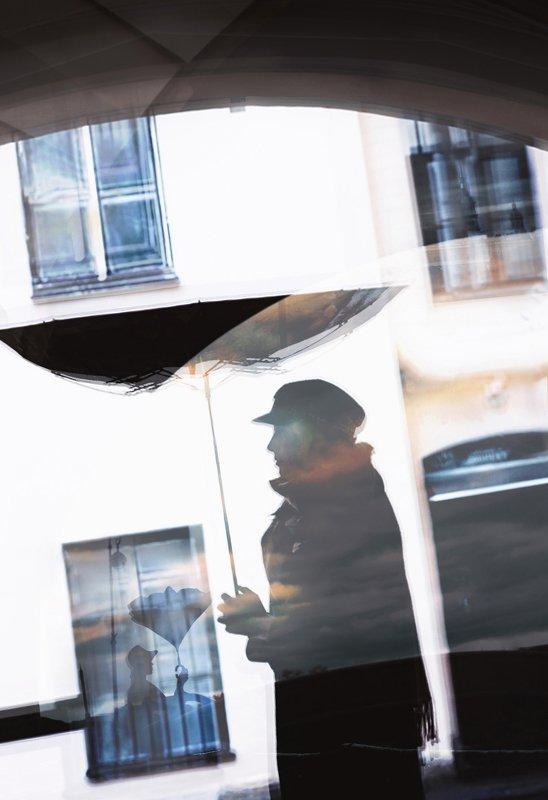 силуэт,город,арт Акварель будней Петербургаphoto preview