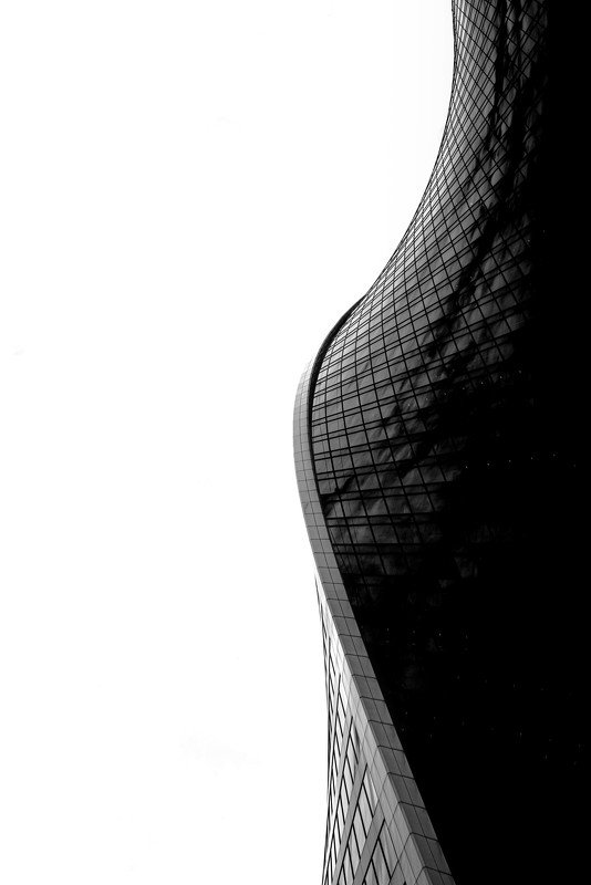 evolution, tower, skyscraper, international, architecture, black, white, Moscow, Russia Evolution Towerphoto preview