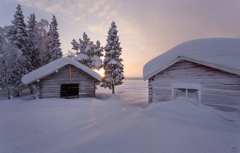 sweden, пейзаж, зима, путешествия, природа \