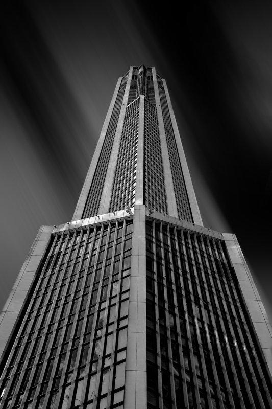Mercury, city, tower, architecture, skyscraper, black, white, Moscow, Russia Mercury City Towerphoto preview