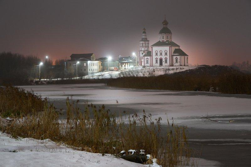 церковь, ночь, снег, суздаль Ночь в Суздалеphoto preview