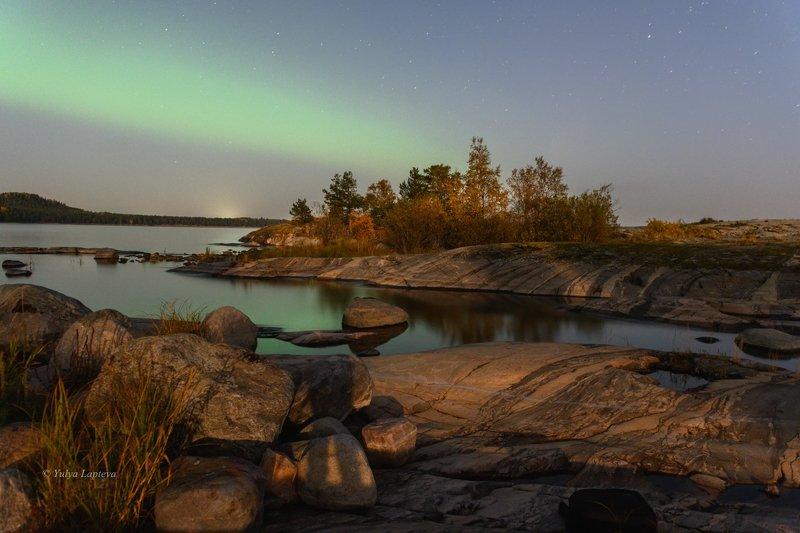 карелия,ночь,осень,путешествие,красота,северное сияние \