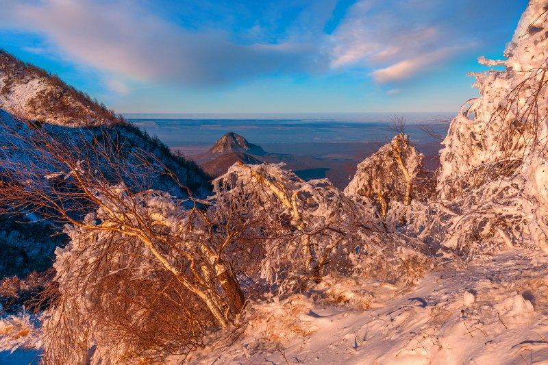 вечер, снег,бештау,закат,природа,пейзаж Вечерphoto preview