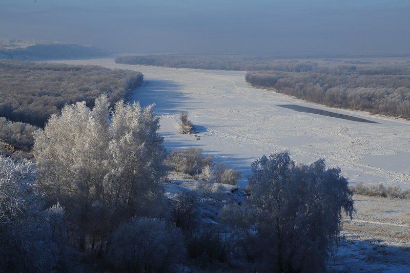 зима  река   мороз обь Декабрьphoto preview