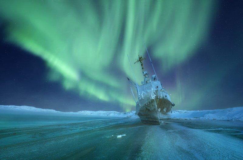 Teriberka, North, Aurora, Кольский полуостров, Териберка, Северное сияние, Север, Мурманск Magic of Nightphoto preview