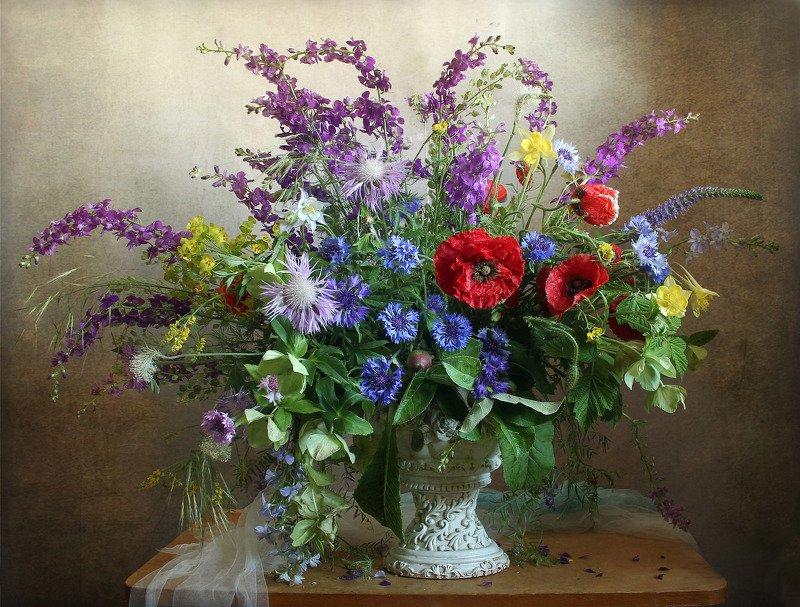 весна, натюрморт, букет цветов, маки, васильки, марина филатова Аромат цветов – весны дыханье…photo preview