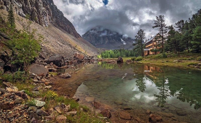 горный алтай,лето, альп.лагерь актру,гора караташ,озеро сачки На озере Сачки...photo preview