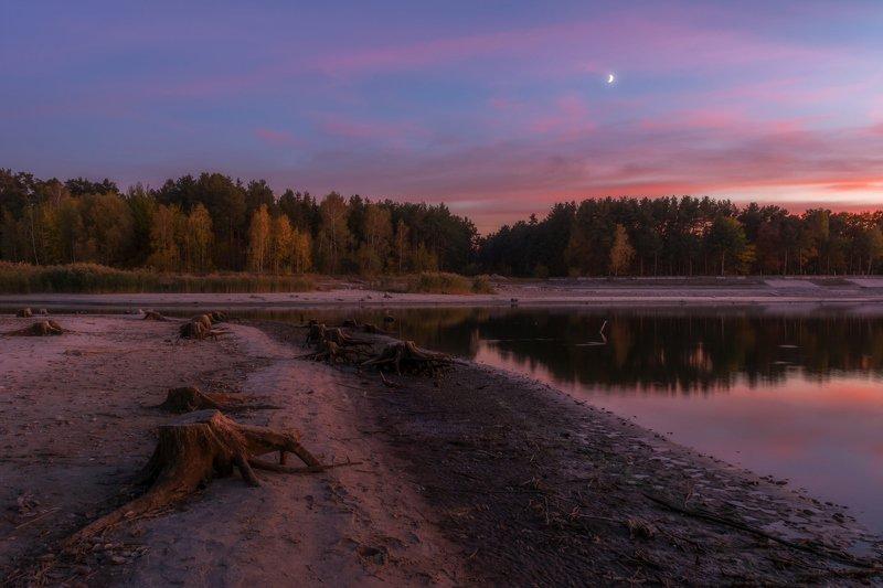белгородское водохранилище, вечер, северский донец На водохранилище.photo preview