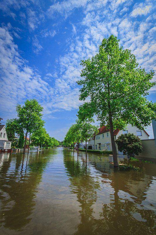 наводнение, германия, 2013 Наводнение 2013 - Magdeburg-Rothenseephoto preview