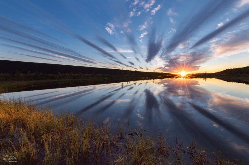 якутия, оленёк Три состояния на одном озереphoto preview