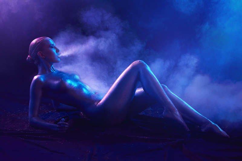 Smoke and glitterphoto preview