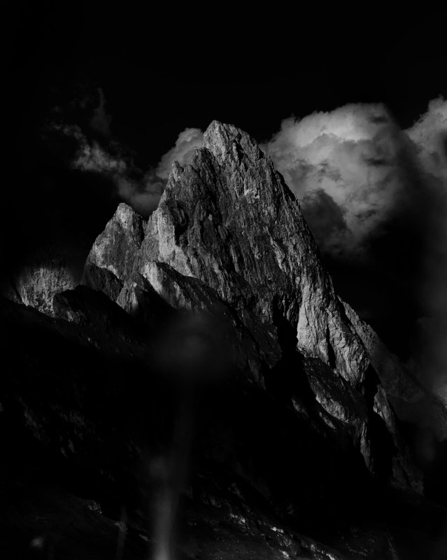 black, white, bw, mountains, dramatic, italy, dolomites, dolomiti Fermeda beautyphoto preview