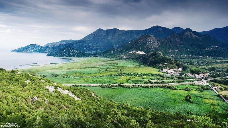 черногория, озеро, скадарское, долина, зима, панорама, вид, пейзаж Над долинойphoto preview