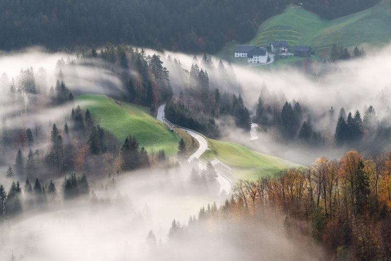 словения, slovenia, туманы словении, slovenia landscape, slovenia landscape photography A morning dream...photo preview