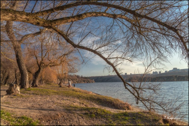 река,Днепр,Хортица,весна Мартовскаяphoto preview