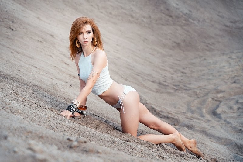 girl, beauty, outdoor, portrait, sand Катаринаphoto preview