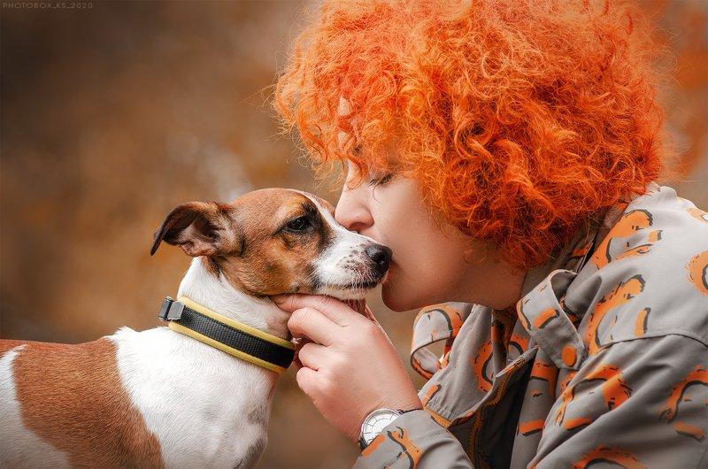 осень, портрет, движение, собака, анималистика Елена и Фибиphoto preview