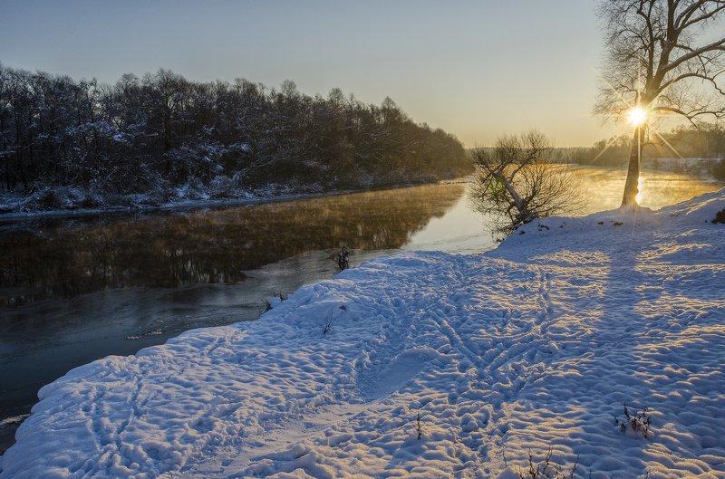 рассвет ,утро ,зима , Ноябрьское утроphoto preview