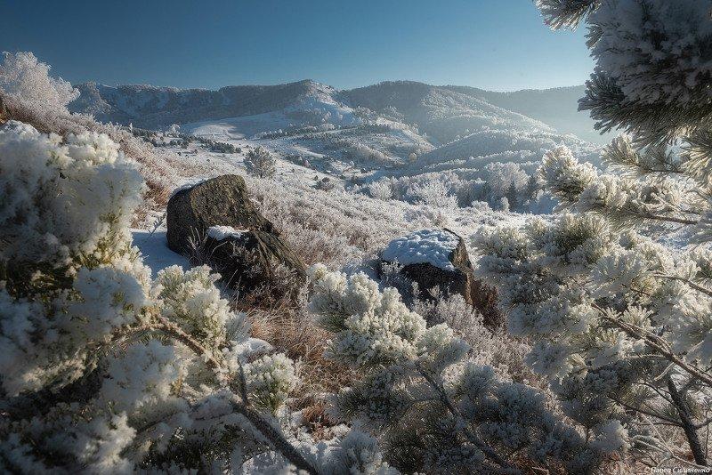 пейзаж, алтай, белокуриха, зима, горы, снег, мороз Яковкаphoto preview