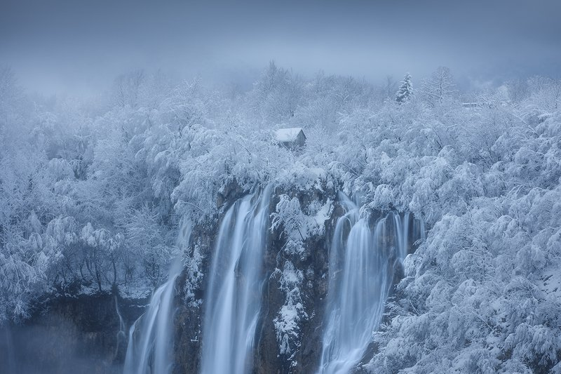 plitvice,lakes,croatia,snow,winter,waterfall,landscape, plitvice lakes фото превью